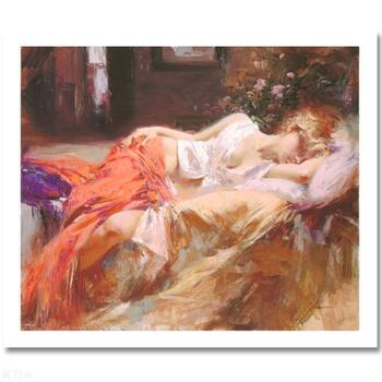 """Pino (1939-2010) """"Day Dream"""" Limited Edition Giclee. Numbered and Hand Signed; Certificate of Authenticity."""