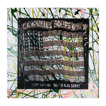 """Steve Kaufman (1960-2010), """"Campbell's Soup Flag"""" Hand Signed and Numbered Limited Edition Silkscreen on Canvas with LOA."""