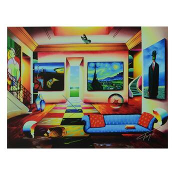 """Ferjo, """"The Salon"""" Limited Edition on Canvas, Numbered and Signed with Letter of Authenticity."""