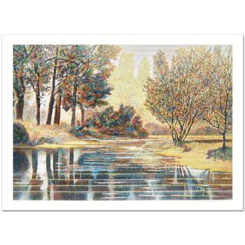 """Marcus Uzilevsky (1937-2015), """"Central Park"""" Limited Edition Serigraph, Numbered and Hand Signed, Certificate of Authenticity."""