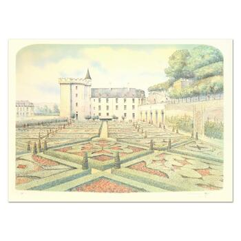 """Rolf Rafflewski, """"Chateau Villandry Gardens"""" Limited Edition Lithograph, Numbered and Hand Signed."""