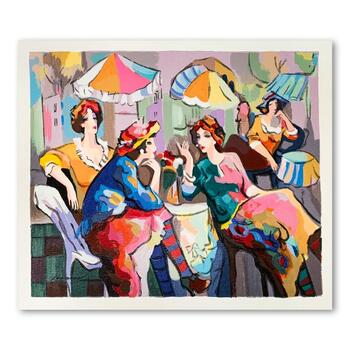 """Michael Kerman, """"Conversation"""" Hand Signed Limited Edition Serigraph on Paper with Letter of Authenticity."""