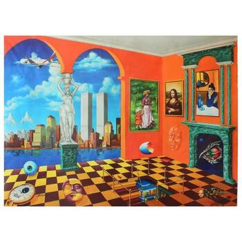 """Alexander Astahov, """"New York View"""" Hand Signed Limited Edition Giclee on Canvas with Letter of Authenticity."""