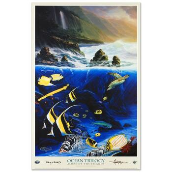 """Wyland, """"Alure of the Islands"""" Collectible Fine Art Poster."""