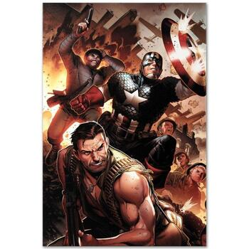 """Marvel Comics """"Secret Warriors #17"""" Numbered Limited Edition Canvas by Jim Cheung; Includes COA."""