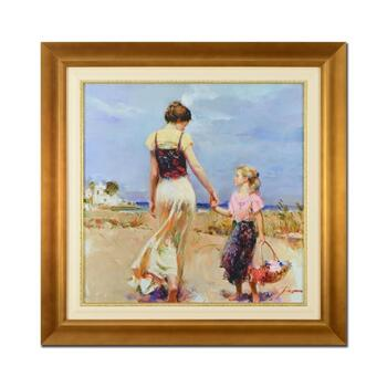 """Pino (1939-2010), """"Let's Go Home"""" Framed Limited Edition Artist-Embellished Canvas. Numbered and Hand Signed; COA."""
