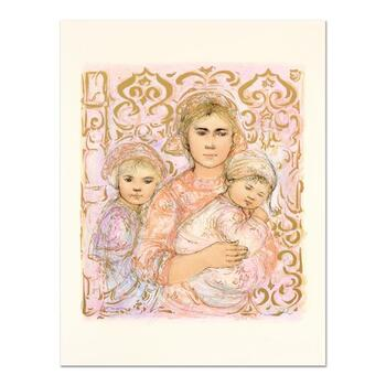 """Edna Hibel (1917-2014), """"Jenet, Mary and Wee Jenet"""" Ltd Ed Lithograph, Numbered 16/26 and Hand Signed with Certificate."""