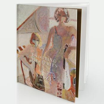 """""""Enduring Mysteries - Paintings of Sabzi 1987 - 1997"""" Fine Art Book by Abbas Daneshvari (1998), 89 Pages."""