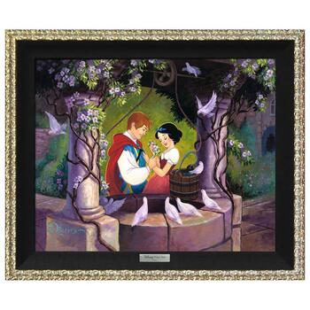"""""""The Wishing Well"""" Framed Limited Edition Canvas by Tim Rogerson from the Disney Silver Series; with COA"""