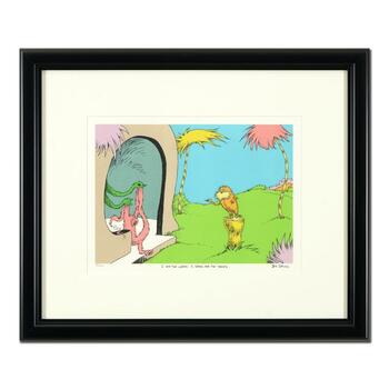 """Dr Seuss, """"I Am The Lorax, I Speak For The Trees"""" Estate Signed Limited Edition Framed Lithograph with Letter of Authenticity."""