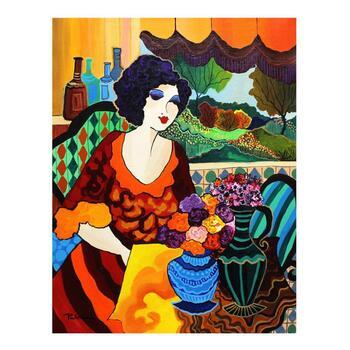 "Patricia Govezensky, ""Frida"" Original Acrylic on Canvas with Letter of Authenticity."