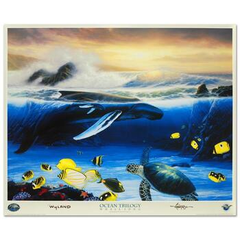 """Wyland, """"Whale Song"""" Collectible Fine Art Poster."""