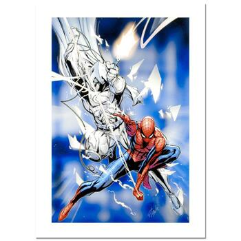 """Stan Lee Signed, """"Vengeance of the Moon Knight #9"""" Marvel Comics Limited Edition Canvas by J. Scott Campbell; COA"""