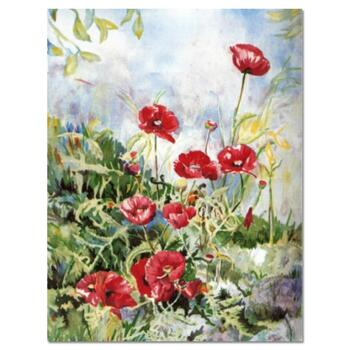"""Perla Fox, """"Anenomes"""" Hand Signed Limited Edition Serigraph with Letter of Authenticity."""