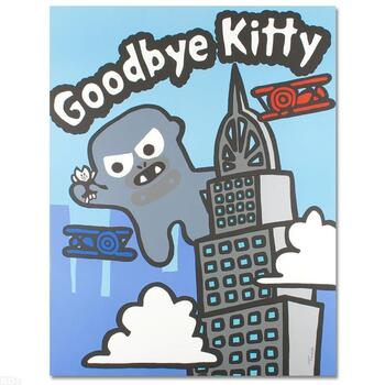 """Todd Goldman, """"Goodbye Kitty"""" Ltd Ed Lithograph (32.5"""" x 42""""), Numbered and Hand Signed with Certificate."""