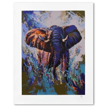 """Mark King (1931-2014), """"Tembo Elephant"""" Limited Edition Serigraph, Numbered and Hand Signed with Letter of Authenticity."""