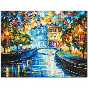 """Leonid Afremov (1955-2019) """"House on the Hill"""" Limited Edition Giclee on Gallery Wrapped Canvas, Numbered and Signed."""