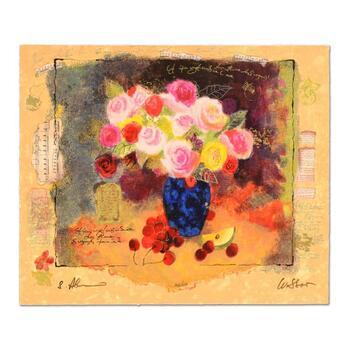 """Alexander ( d.2008) & Wissotzky (d.2006), """"Still Life with Flower Bouquet"""" Ltd Ed Serigraph, No. & Hand Signed w/Cert"""