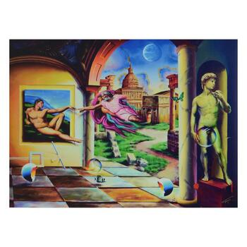 """Ferjo, """"Creation of a Man"""" Limited Edition on ped Canvas, Numbered and Signed with Letter of Authenticity."""