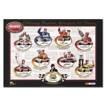 """""""Celebrating 100 Victories"""" Limited Edition Collectible Poster, Numbered with Letter of Authenticity."""
