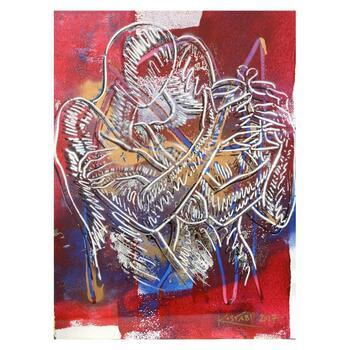 "Mark Kostabi ""Celebrating The Infinite"" Hand Signed Original Artwork with COA."