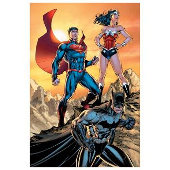 """DC Comics, """"DC Universe Rebirth"""" Numbered Limited Edition Giclee on Canvas by Jim Lee with COA."""