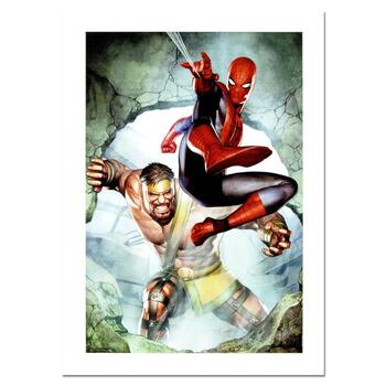 """Stan Lee Signed, """"Assault New Olympus Prologue #1"""" Marvel Comics Limited Edition Canvas by Adi Granov; COA"""