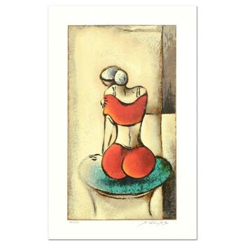 """David Schluss, """"Mia"""" Limited Edition Serigraph, Numbered and Hand Signed with Letter of Authenticity."""