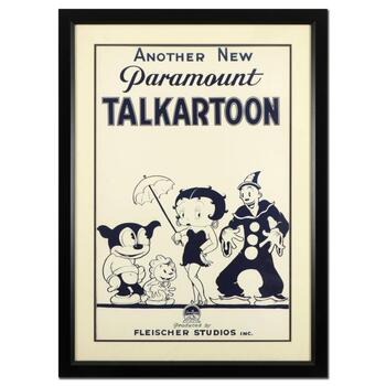 """""""Talkartoon"""" Framed Hand Pulled Lithograph (34"""" x 46.5"""") by the RE Society with Letter of Authenticity"""