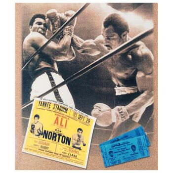 """""""Ken Norton and Ali Ticket"""" Must-Have Sports Photo Collage Hand-Autographed by Ken Norton (1943-2013), with Certificate."""