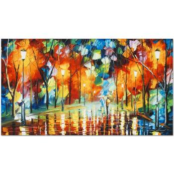 """Leonid Afremov (1955-2019) """"Mirror Streets"""" Limited Edition Giclee on Gallery Wrapped Canvas, Numbered and Signed."""