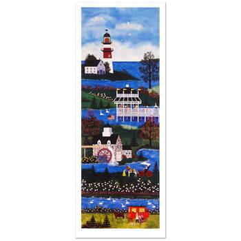 """Jane Wooster Scott, """"Springtime Cheer"""" Hand Signed Limited Edition Lithograph with Letter of Authenticity."""