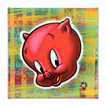 """Looney Tunes, """"Porky Pig"""" Limited Edition on Gallery Wrapped Canvas, from an edition of 500 with Certificate."""