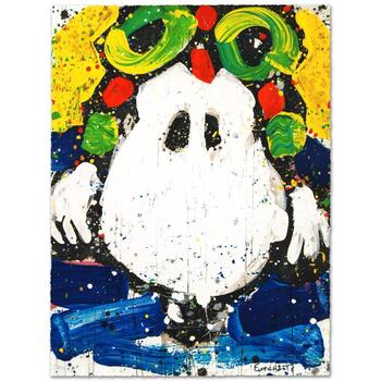 """Tom Everhart, """"Ace Face"""" Ltd Ed Hand Pulled Original Lithograph Numbered and Hand Signed, with Cert."""
