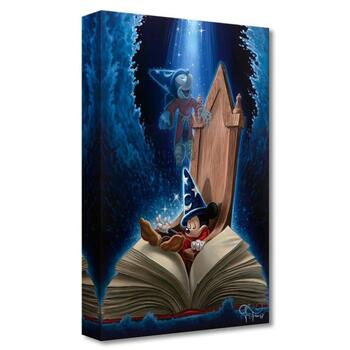 """Jared Franco, """"Dreaming of Sorcery"""" Limited Edition Canvas from the Disney Fine Art Treasures collection; COA."""