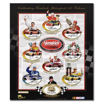 """""""Celebrating 100 Victories"""" Limited Edition Collectible Poster with Letter of Authenticity."""