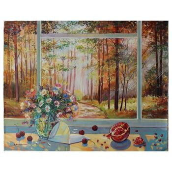 """Alexander Borewko, """"Into the Woods"""" Hand Signed Original Oil on Canvas; COA"""