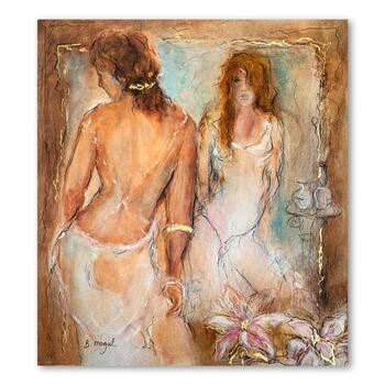 """Batia Magal, """"Femininity"""" Hand Signed Limited Edition Serigraph on Paper with Letter of Authenticity."""