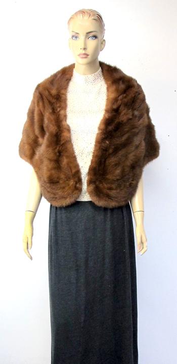 Vintage Women's Custom Auburn Mink Stole -Size Small