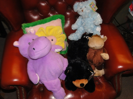 One Box of New Plush Toys 5 Pieces