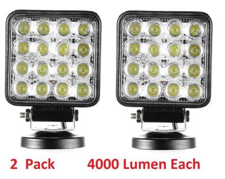 2 Pc - 48W Spot LED Work Lights