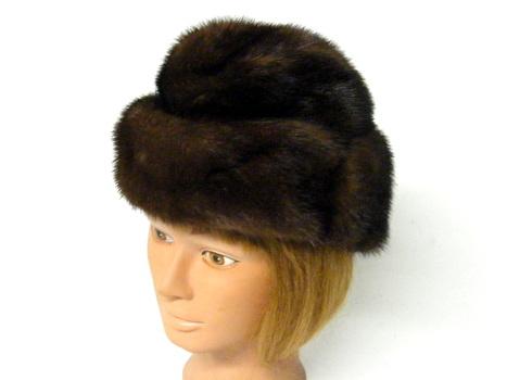 Women's D, Brown Mink Hat