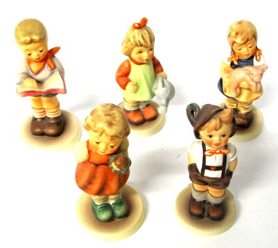 5 Vintage Hummel Club Figurines made by Goebel