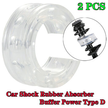 New Pair Type-D White Car Rubber Shock Absorber Spring Bumper Buffer Power Cushion