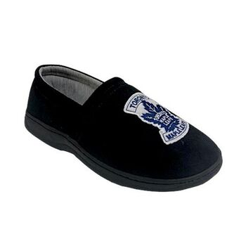 NWT Toronto Maple Leafs Slippers Black Size 9/10