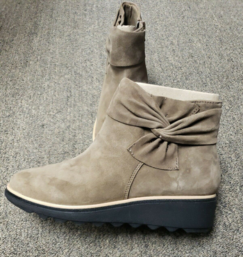 CLARKS - Women's Sharon Salon Olive Suede Ankle Boots - Size 10 - $129.00 Retail