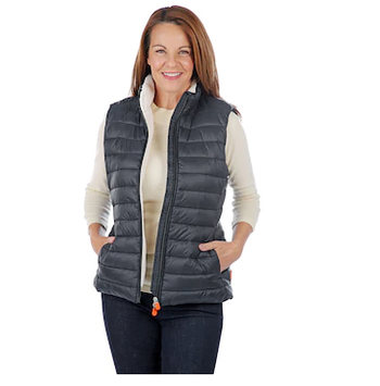 SAVE THE DUCK-Ladies Shearling Lined Vest-S-Black- $180 Retail