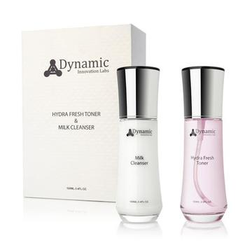 DYNAMIC INNOVATIONS 2-Step Anti-Aging Toner and Cleanser Kit - Hydrafresh Toner & Milk Cleanser retail $195