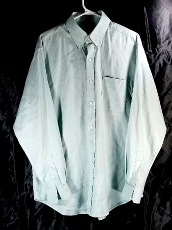 Bobby Jones Mens Button Up Long Sleeve Shirt Blue 100% Cotton Size L