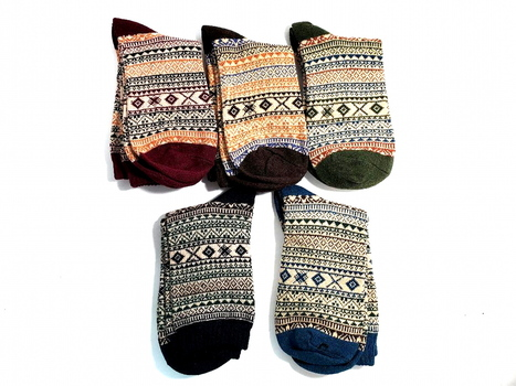 Classic Collection 5 Pairs Nordic Socks Size M YM9003